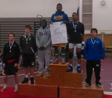 Xavier Bass wins at Class L State Wrestling Championships at 182.